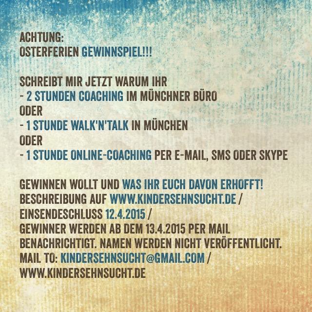 Osterferien Gewinnspiel Kinderwunsch Coaching München