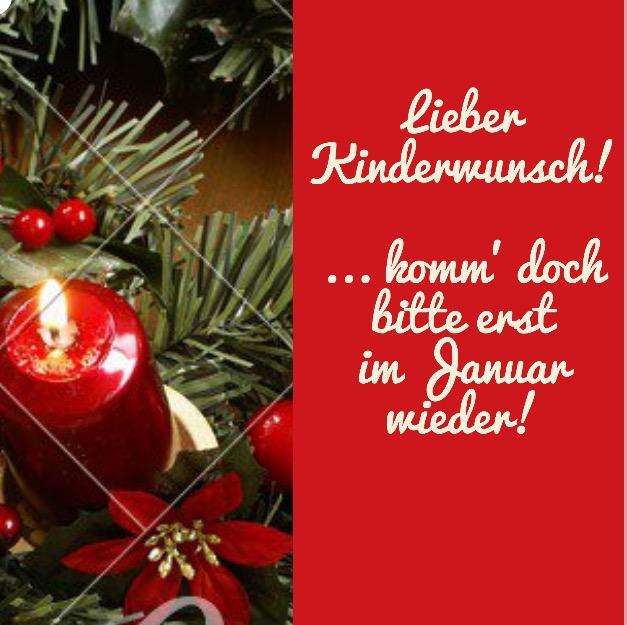 Lieber Kinderwunsch... lass\' mich Weihnachen genießen... und komm ...