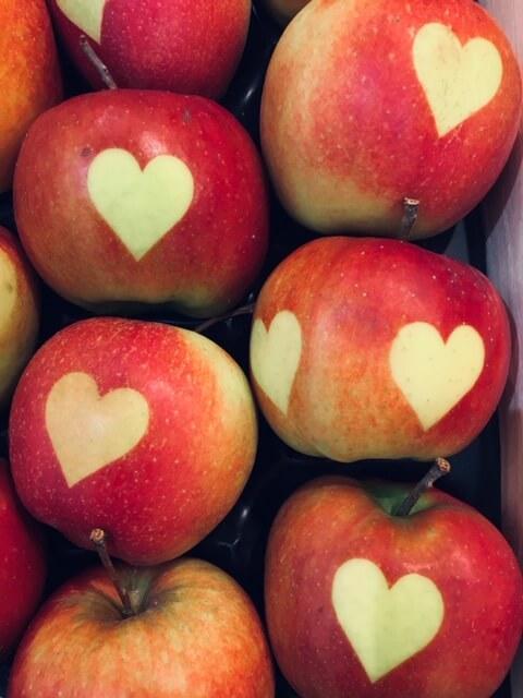 Äpfel mit Herz-Kinderwunsch-Egoismus-Werte-Familie-Babywunsch-Beratung-Ferber